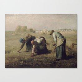 Jean Francois Millet Gleaners Canvas Print