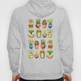 Succulents All in a Row Hoody