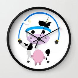 TeeTee - The Aerobic Cow #02 Wall Clock