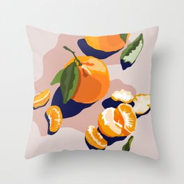 Clementines Throw Pillow