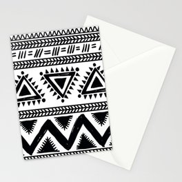 Tribal black and white Stationery Cards