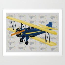 Bi-Plane - Fleet Model Art Print