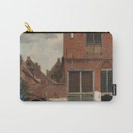 Johannes Vermeer - The little street Carry-All Pouch