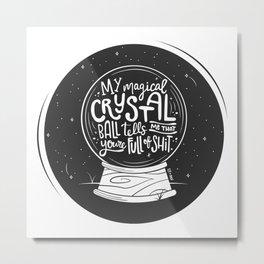 Magical Crystal Ball Metal Print