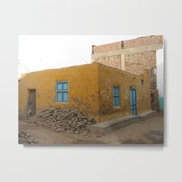 Nubian House in Elephantine Island in Aswan, Egypt (2005d) Metal Print