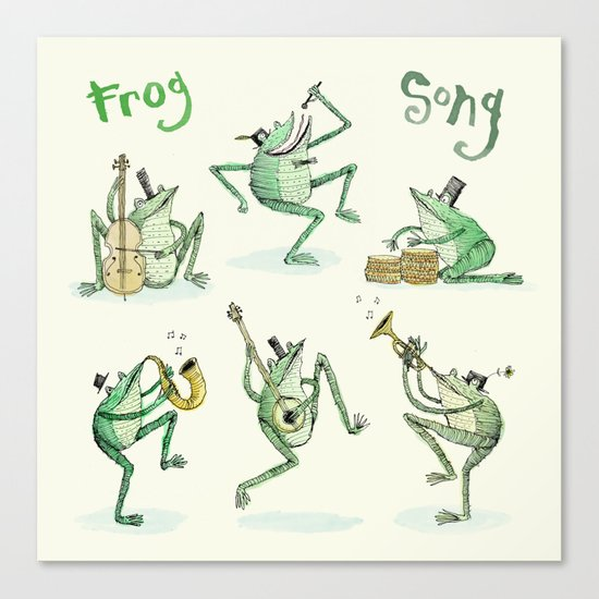 'Frog Song' Canvas Print
