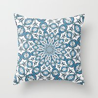 snowflake Throw Pillows featuring Snowflake by Stay Inspired