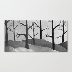 Abstract Forest Scene Canvas Print