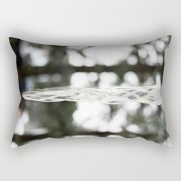 Glass Icicle Photography Print Rectangular Pillow