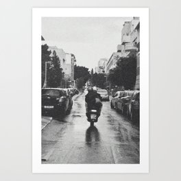 Couple in a Vespa Art Print