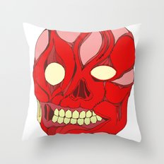 Naked Face Throw Pillow