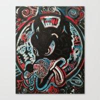 ashton irwin Canvas Prints featuring Irwin Wolf by Matt Pecson