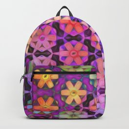 Rainbow Hexagon Flowers 2 Backpack