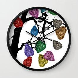 The Fall of Hearts Wall Clock