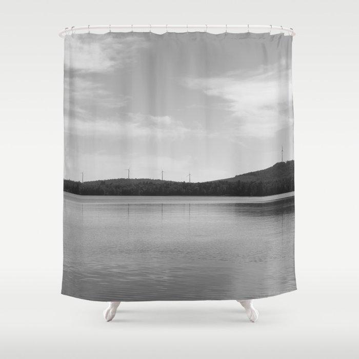 Maine Windmills Shower Curtain