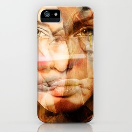 faces of Angelina Jolie iPhone Case