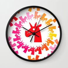 Color Me Red Unicorn Wall Clock