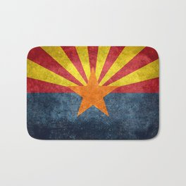 State flag of Arizona in Vintage Grunge Bath Mat
