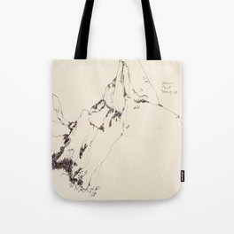 Yosemite Glacier Point Drawing Tote Bag