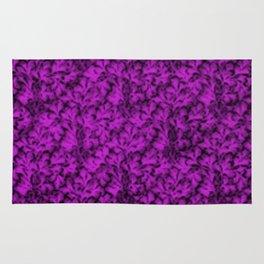 Vintage Floral Lace Leaf Dazzling Violet Rug