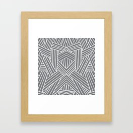 InterLines Gray Framed Art Print