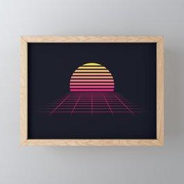 Retrowave sunset 2 / 80s - 90s Retro Framed Mini Art Print