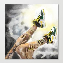 Nike in the sky Canvas Print