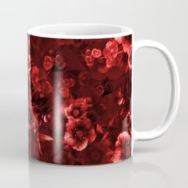 Moody Florals red by Odette Lager Coffee Mug