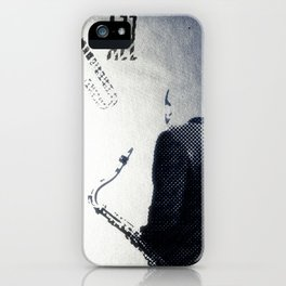 Saxophonist, Jazz Poster iPhone Case