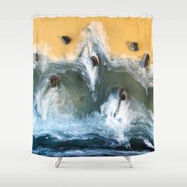 Garry Point - Original Resin Painting Shower Curtain