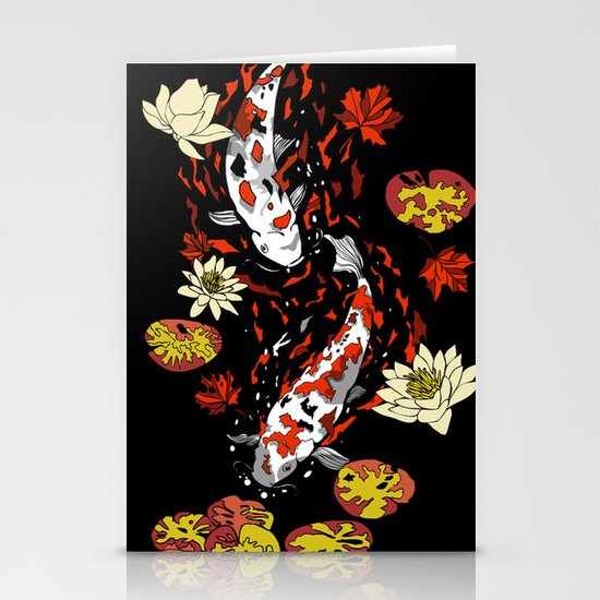 FALLING FISHES Stationery Cards