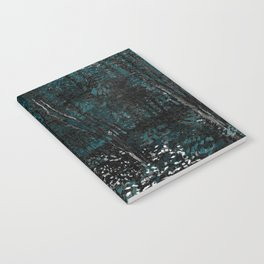 Dark Teal Van Gogh Trees & Underwood Notebook