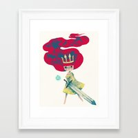 aurora Framed Art Prints featuring aurora by yohan sacre