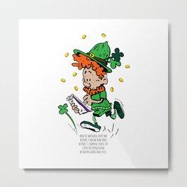 St. Patrick's Day, Leprechaun Metal Print