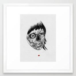 Layers B & W Framed Art Print