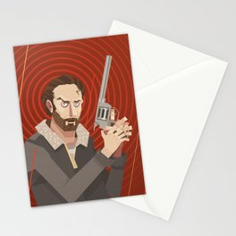 rick-the walking dead Stationery Cards