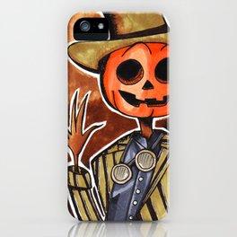 Mr Steampumpkinhead iPhone Case