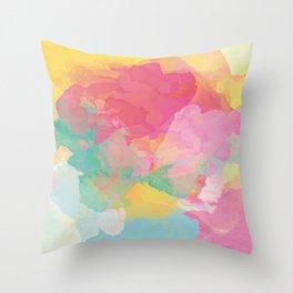 RAINBOW SPLATTER LAYERS Throw Pillow