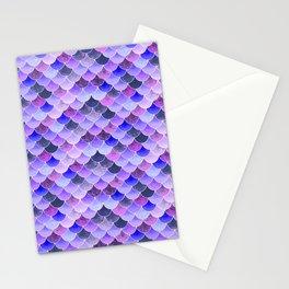 Purple Haze Mermaid Scales Stationery Cards
