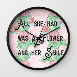 Surfer girl quotes Wall Clock
