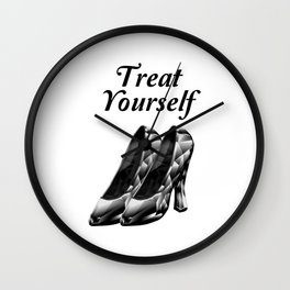 Treat Yourself Wall Clock