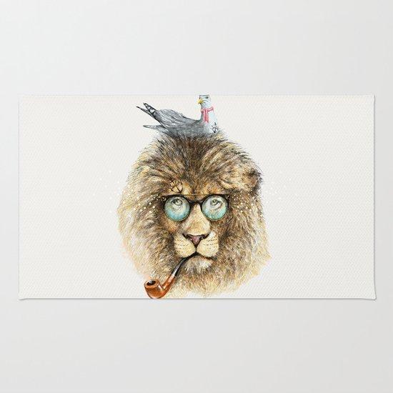 Lion sailor & seagull Rug