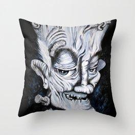 Scratch Monster Throw Pillow