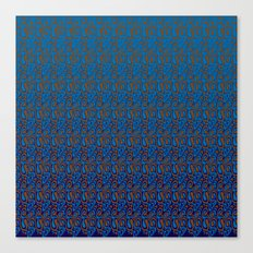Swirls Whirls Bluebird Canvas Print