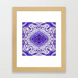 Ultra Violet Watercolour Mandala Pattern Framed Art Print