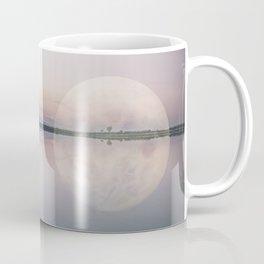 Surreal Moon Over Calm Waters Coffee Mug