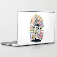 mushrooms Laptop & iPad Skins featuring Mushrooms by Asja Boros
