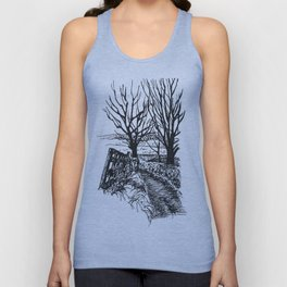 the road down from fairy hill Unisex Tank Top