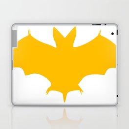 Orange-Yellow Silhouette Of a Bat  Laptop & iPad Skin