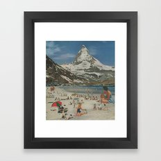 Matterhorn beach Framed Art Print